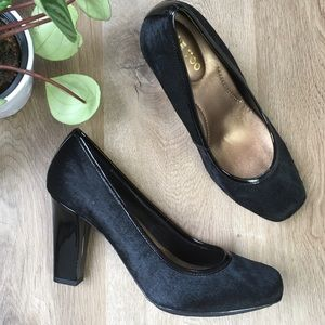 Me Too Black Calf Hair Pumps. New with Box
